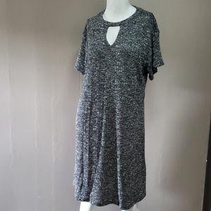 Jon & Anna Gray Dress Sz L Short Sleeve